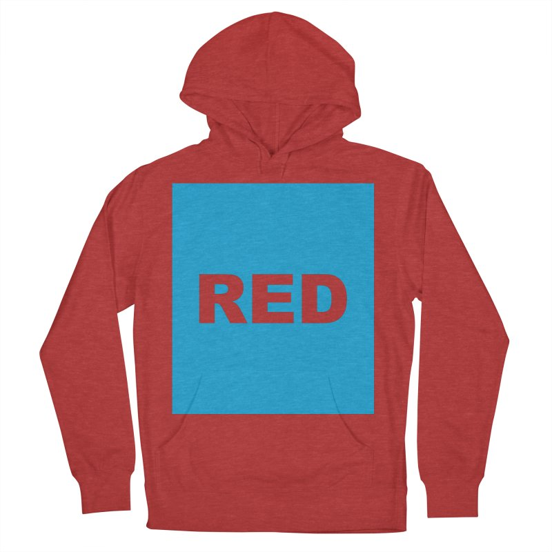 red is blue Women's French Terry Pullover Hoody by Izzy Berdan's Artist Shop