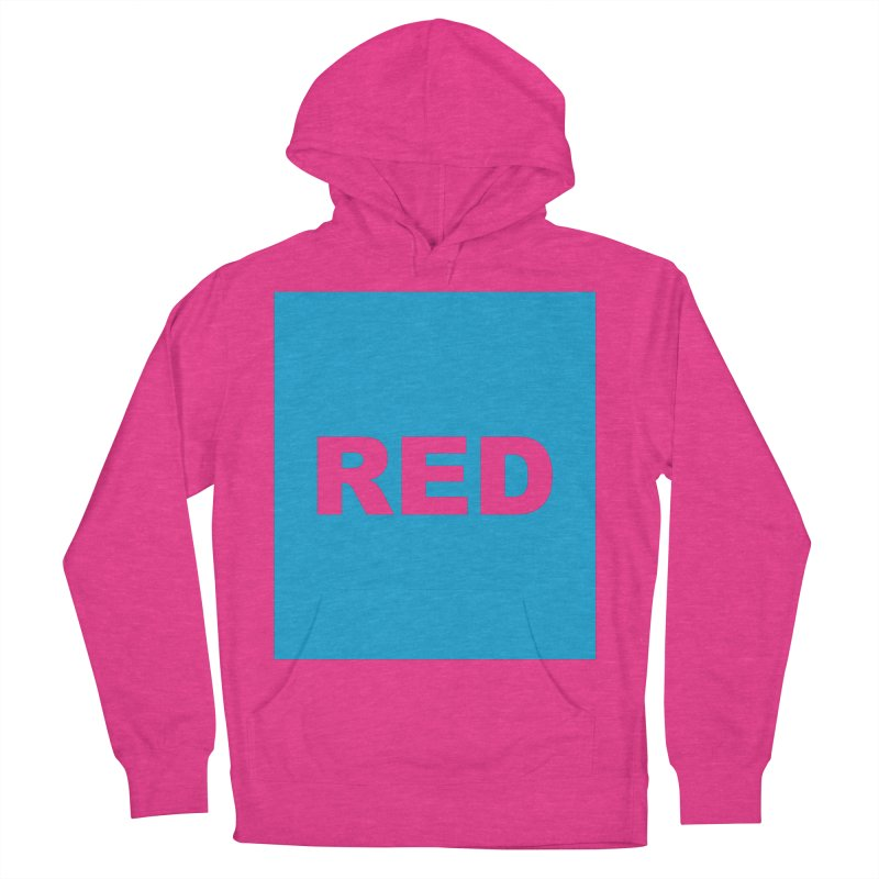 red is blue Women's French Terry Pullover Hoody by izzyberdan's Artist Shop