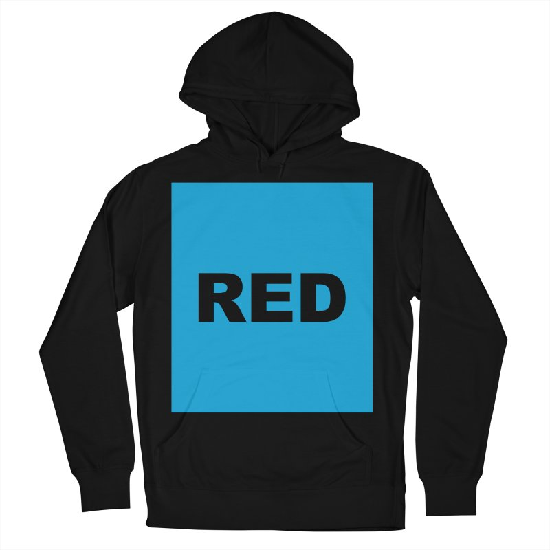 red is blue Men's French Terry Pullover Hoody by izzyberdan's Artist Shop