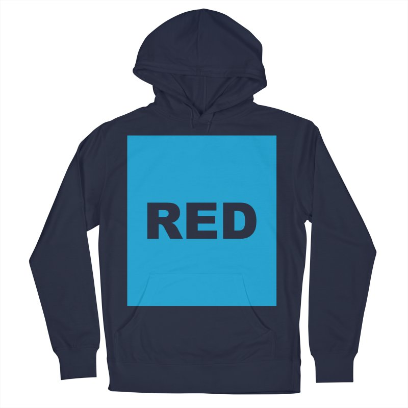 red is blue Men's French Terry Pullover Hoody by Izzy Berdan's Artist Shop