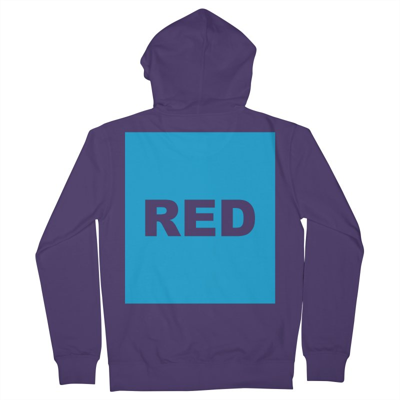red is blue Women's French Terry Zip-Up Hoody by izzyberdan's Artist Shop