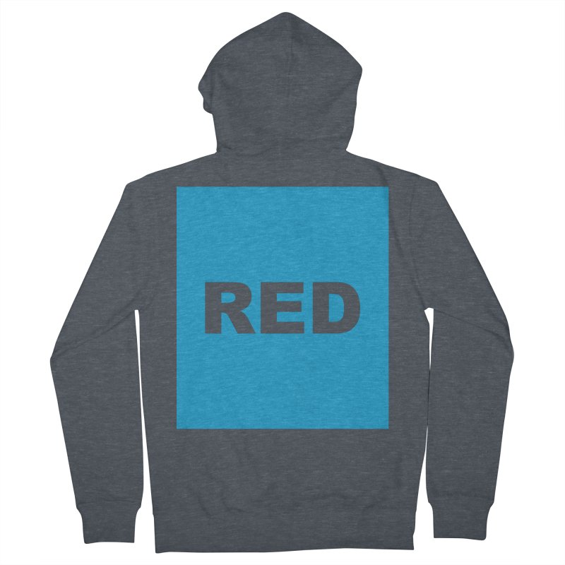 red is blue Men's French Terry Zip-Up Hoody by Izzy Berdan's Artist Shop