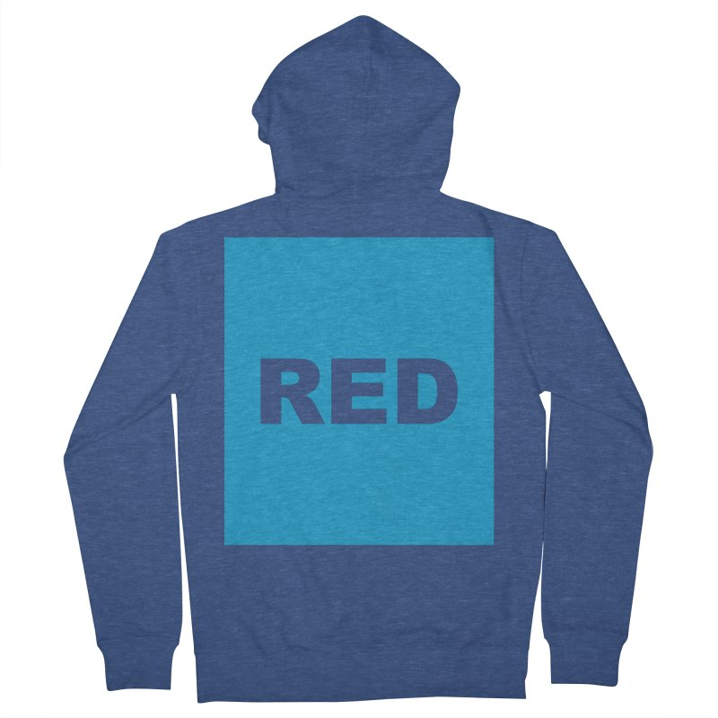 red is blue Men's French Terry Zip-Up Hoody by izzyberdan's Artist Shop