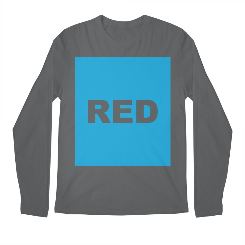 red is blue Men's Regular Longsleeve T-Shirt by izzyberdan's Artist Shop