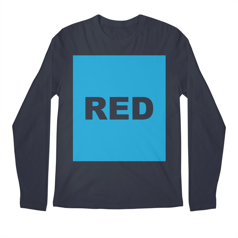 red is blue Men's Regular Longsleeve T-Shirt by Izzy Berdan's Artist Shop