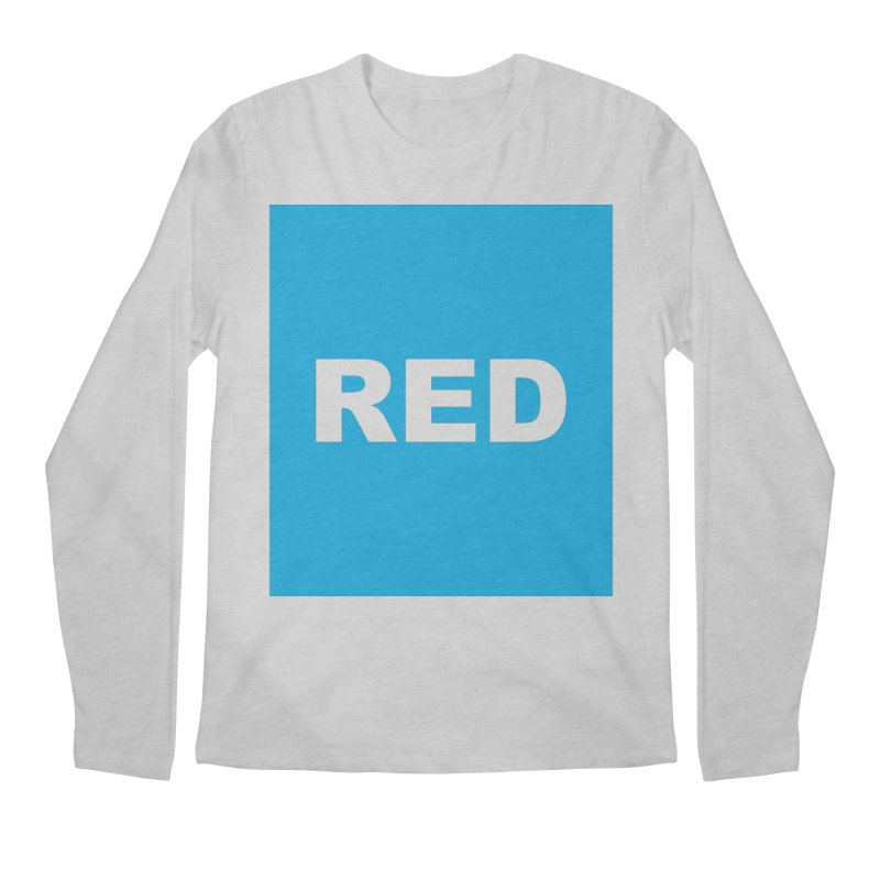 red is blue Men's Regular Longsleeve T-Shirt by Izzy Berdan's Artist Shop