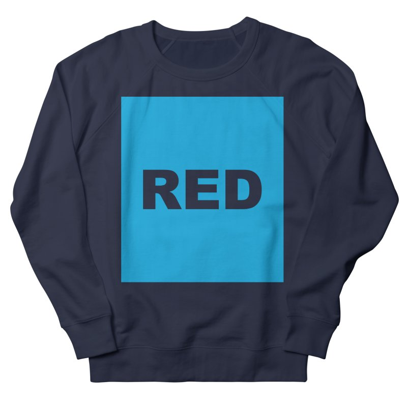 red is blue Women's French Terry Sweatshirt by izzyberdan's Artist Shop