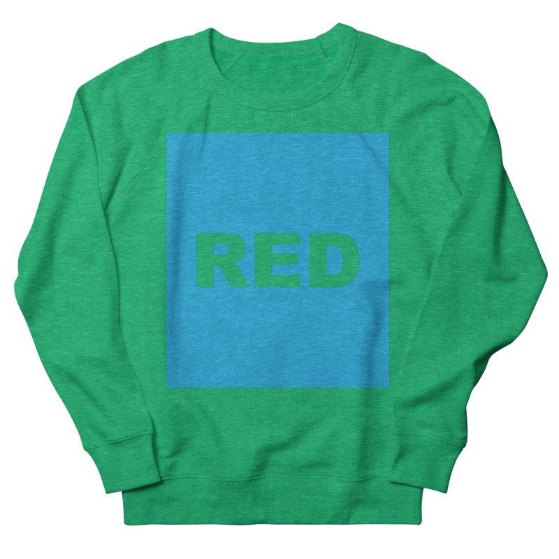 red is blue Men's French Terry Sweatshirt by izzyberdan's Artist Shop