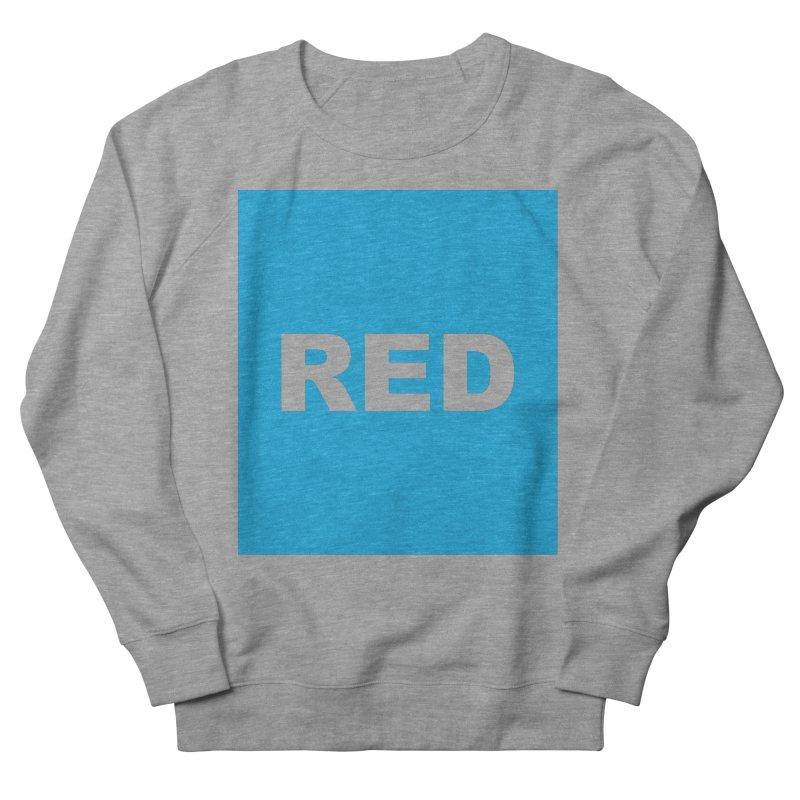 red is blue Men's French Terry Sweatshirt by Izzy Berdan's Artist Shop