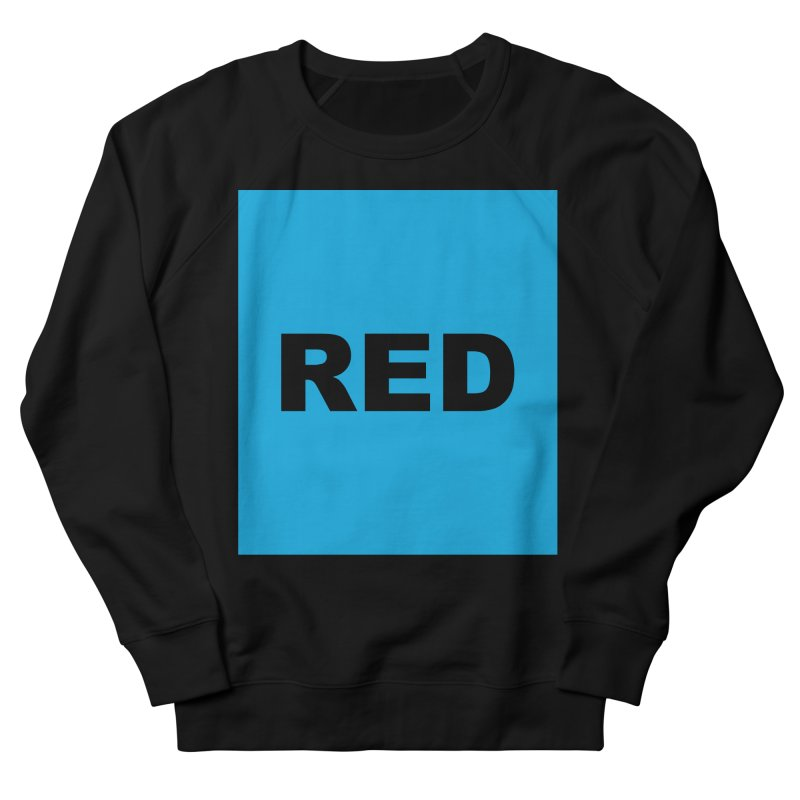 red is blue Men's French Terry Sweatshirt by Izzy Berdan's Artist Shop