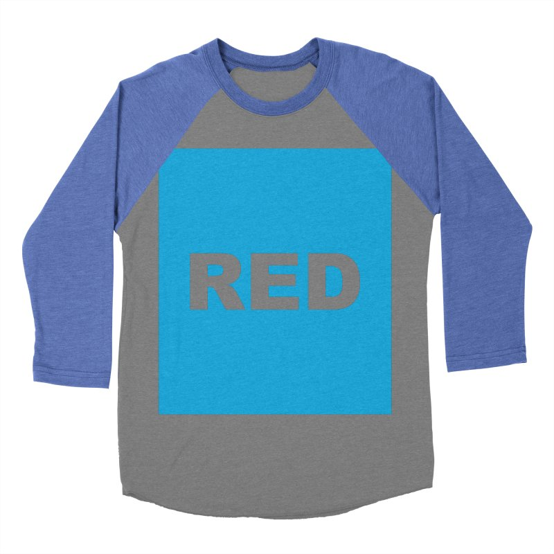red is blue Women's Baseball Triblend Longsleeve T-Shirt by Izzy Berdan's Artist Shop