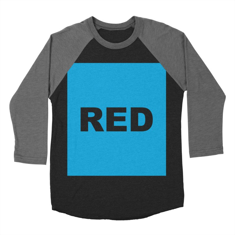 red is blue Men's Baseball Triblend Longsleeve T-Shirt by Izzy Berdan's Artist Shop