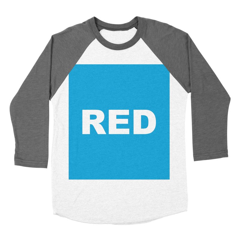 red is blue Men's Baseball Triblend Longsleeve T-Shirt by izzyberdan's Artist Shop