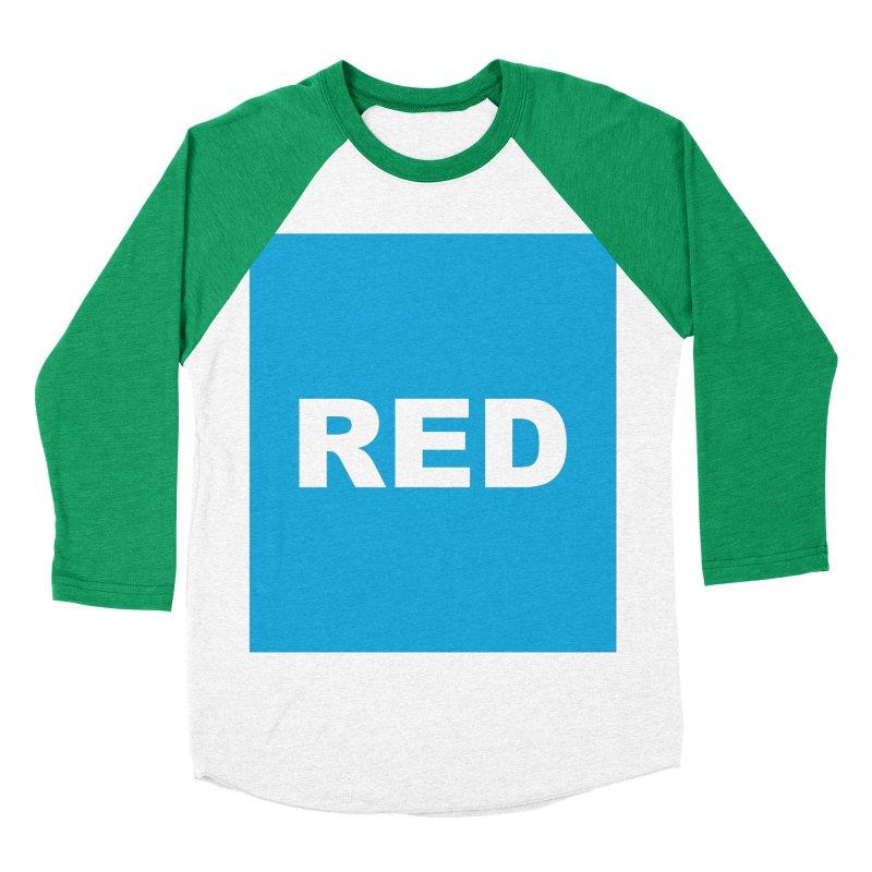 red is blue Men's Baseball Triblend Longsleeve T-Shirt by Izzy Berdan's Artist Shop