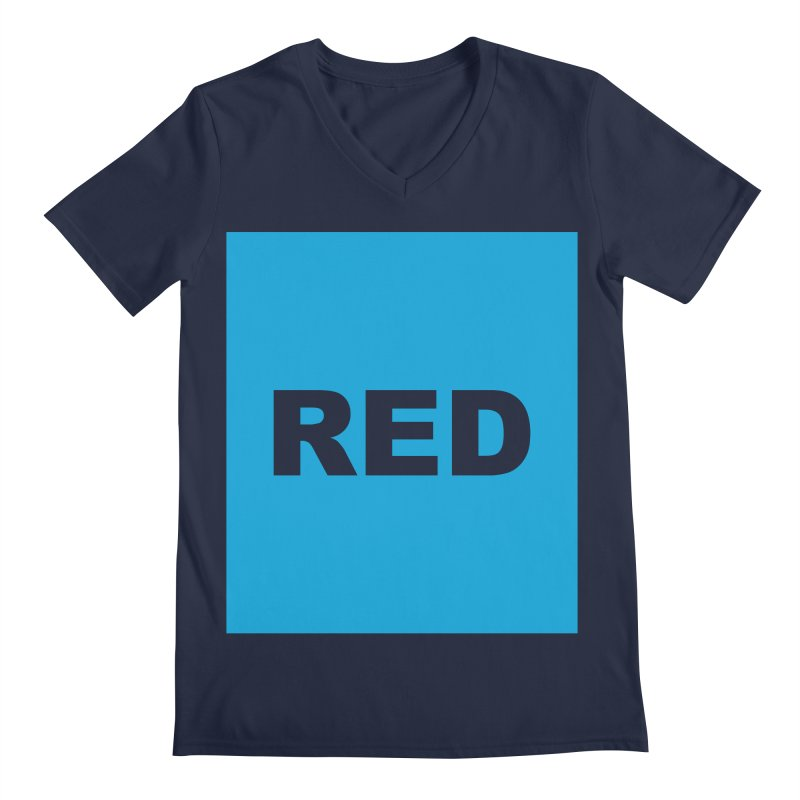 red is blue Men's Regular V-Neck by izzyberdan's Artist Shop