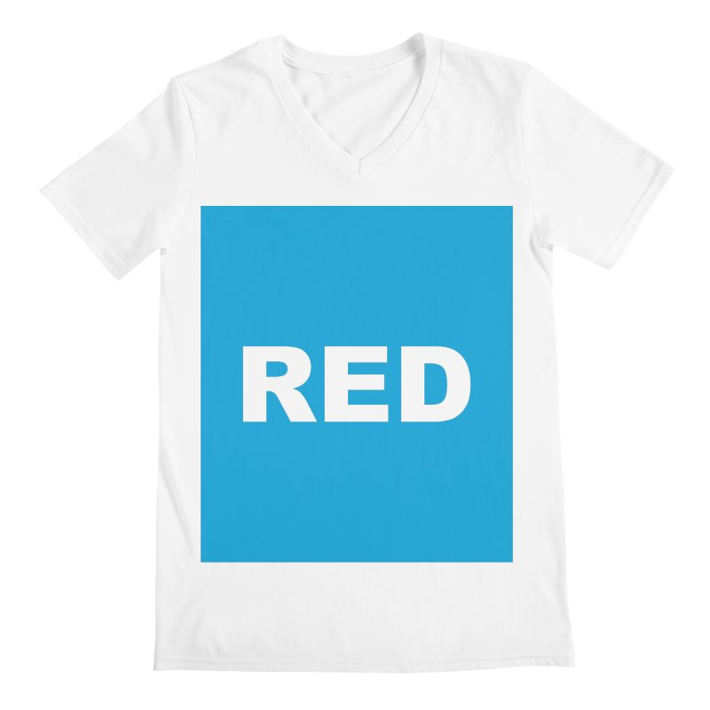 red is blue Men's V-Neck by Izzy Berdan's Artist Shop