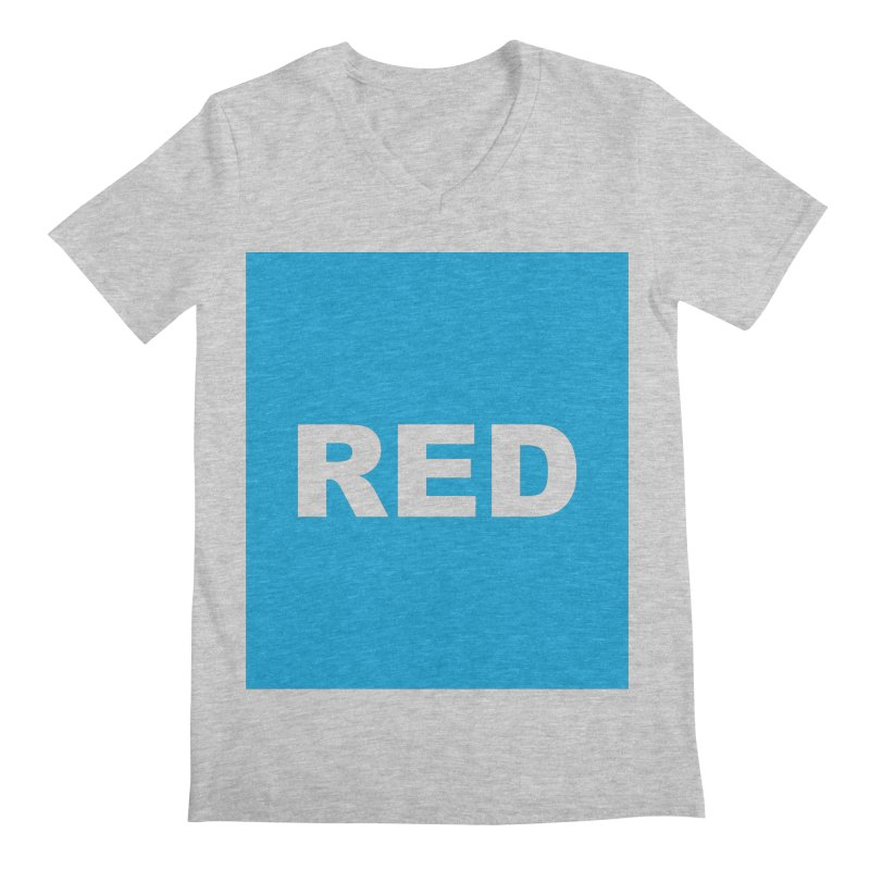 red is blue Men's Regular V-Neck by Izzy Berdan's Artist Shop