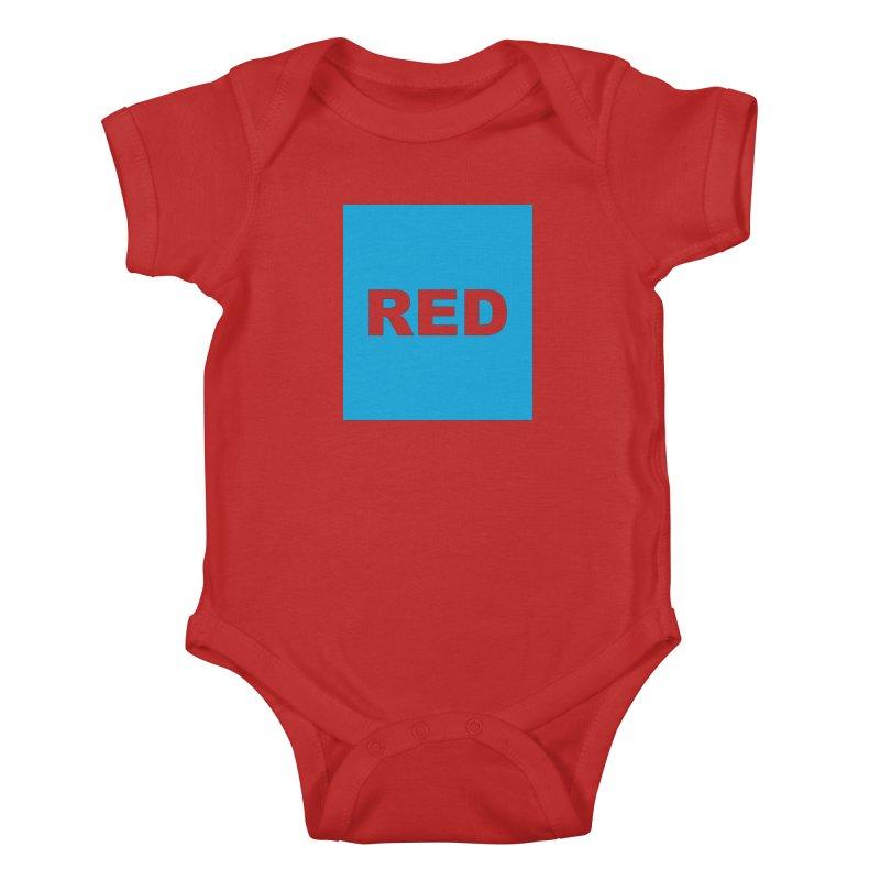 red is blue Kids Baby Bodysuit by Izzy Berdan's Artist Shop