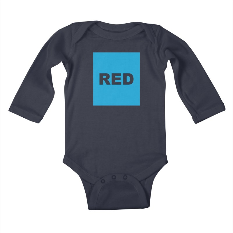 red is blue Kids Baby Longsleeve Bodysuit by Izzy Berdan's Artist Shop