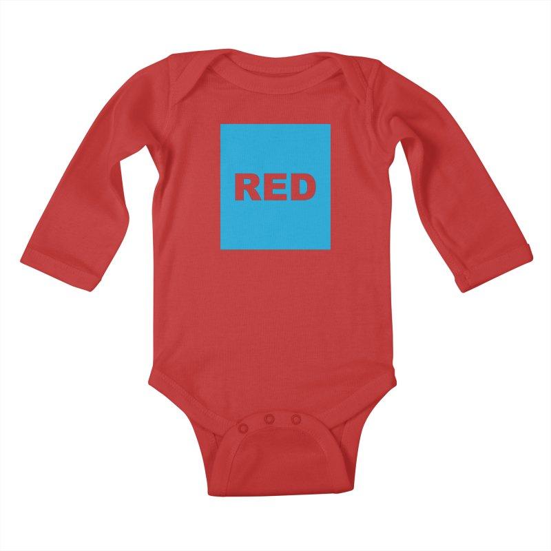 red is blue Kids Baby Longsleeve Bodysuit by Izzy Berdan's Artist Shop