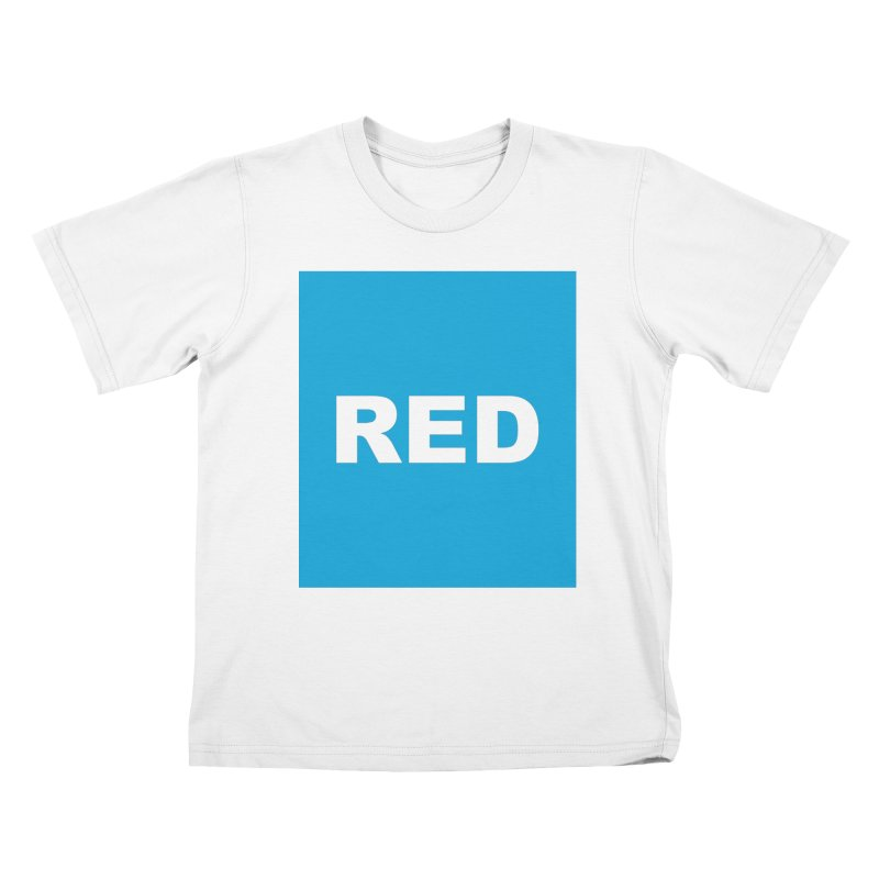 red is blue Kids T-Shirt by Izzy Berdan's Artist Shop