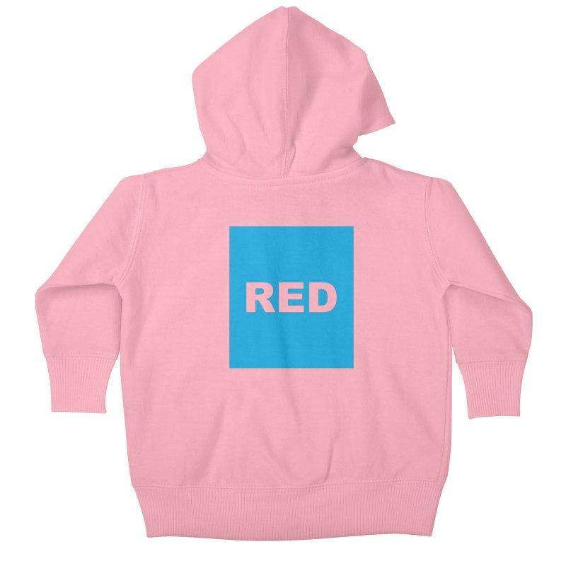 red is blue Kids Baby Zip-Up Hoody by izzyberdan's Artist Shop