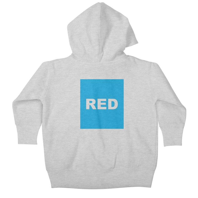 red is blue Kids Baby Zip-Up Hoody by Izzy Berdan's Artist Shop