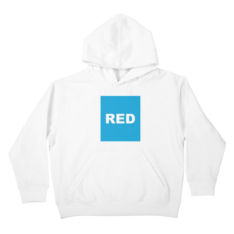 red is blue Kids Pullover Hoody by Izzy Berdan's Artist Shop