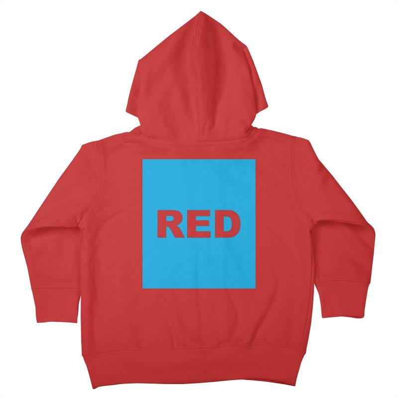 red is blue Kids Toddler Zip-Up Hoody by Izzy Berdan's Artist Shop