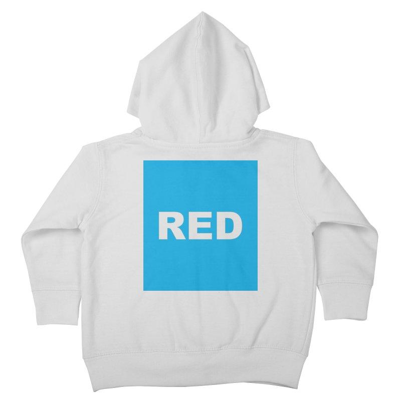 red is blue Kids Toddler Zip-Up Hoody by izzyberdan's Artist Shop