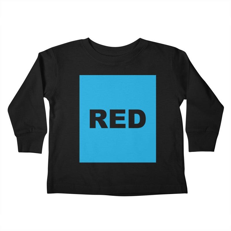 red is blue Kids Toddler Longsleeve T-Shirt by izzyberdan's Artist Shop