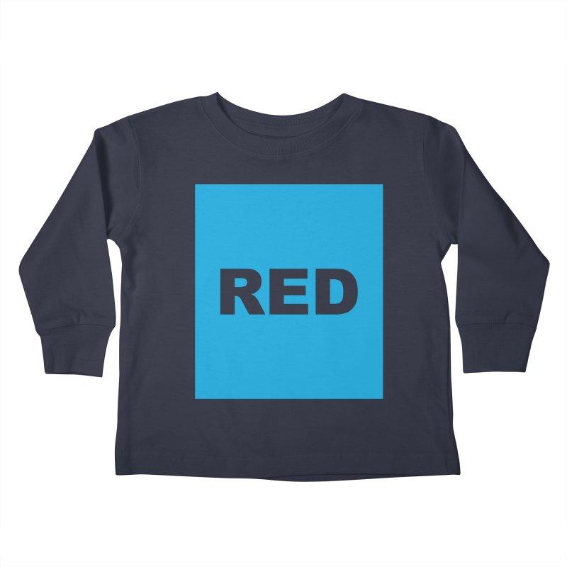 red is blue Kids Toddler Longsleeve T-Shirt by Izzy Berdan's Artist Shop