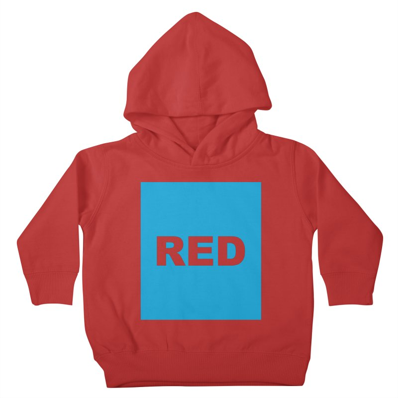 red is blue Kids Toddler Pullover Hoody by izzyberdan's Artist Shop