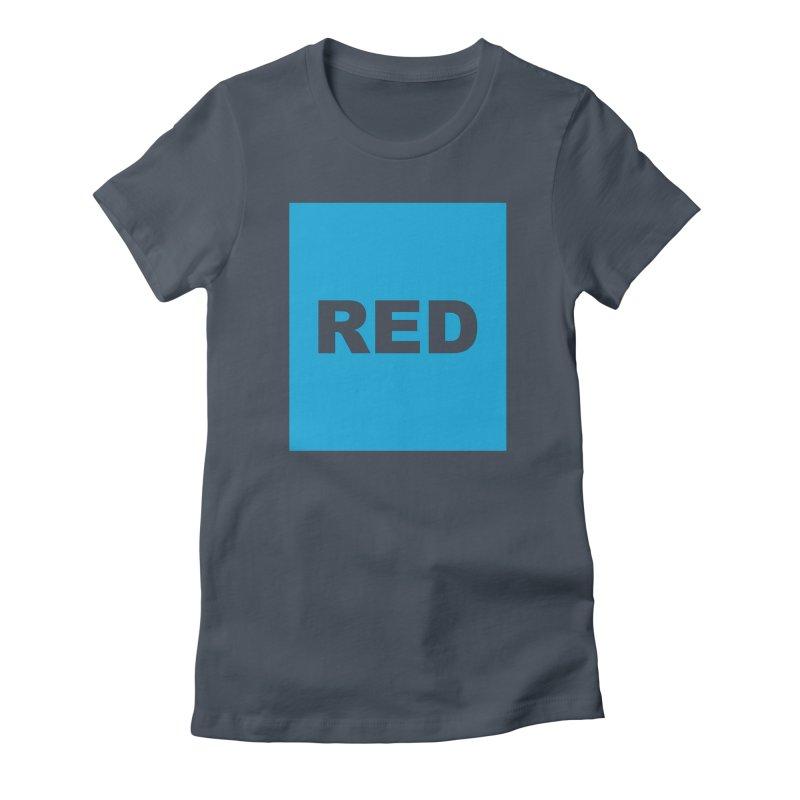 red is blue Women's T-Shirt by Izzy Berdan's Artist Shop