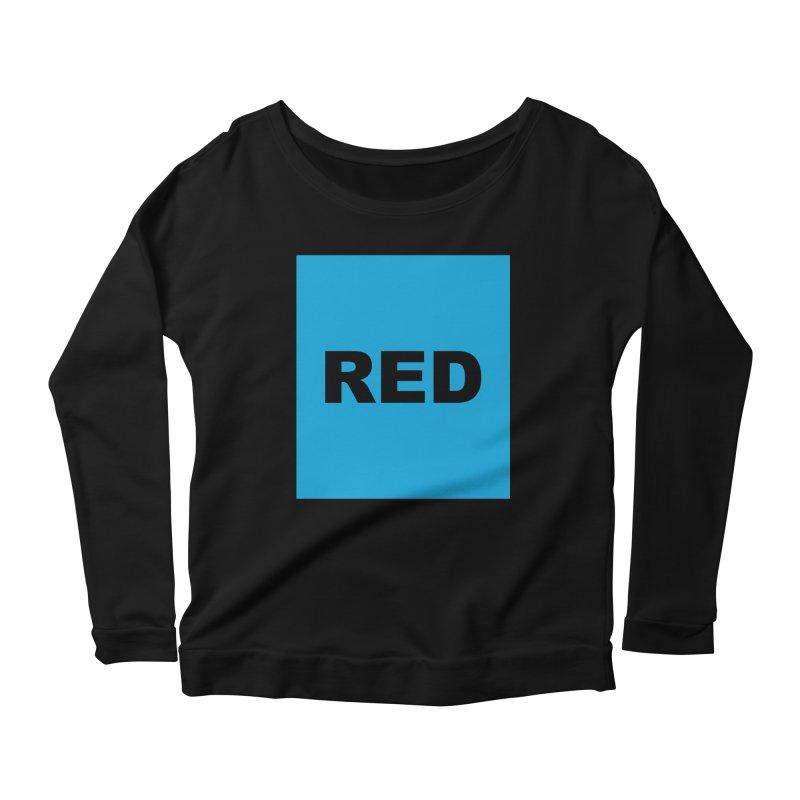 red is blue Women's Scoop Neck Longsleeve T-Shirt by Izzy Berdan's Artist Shop