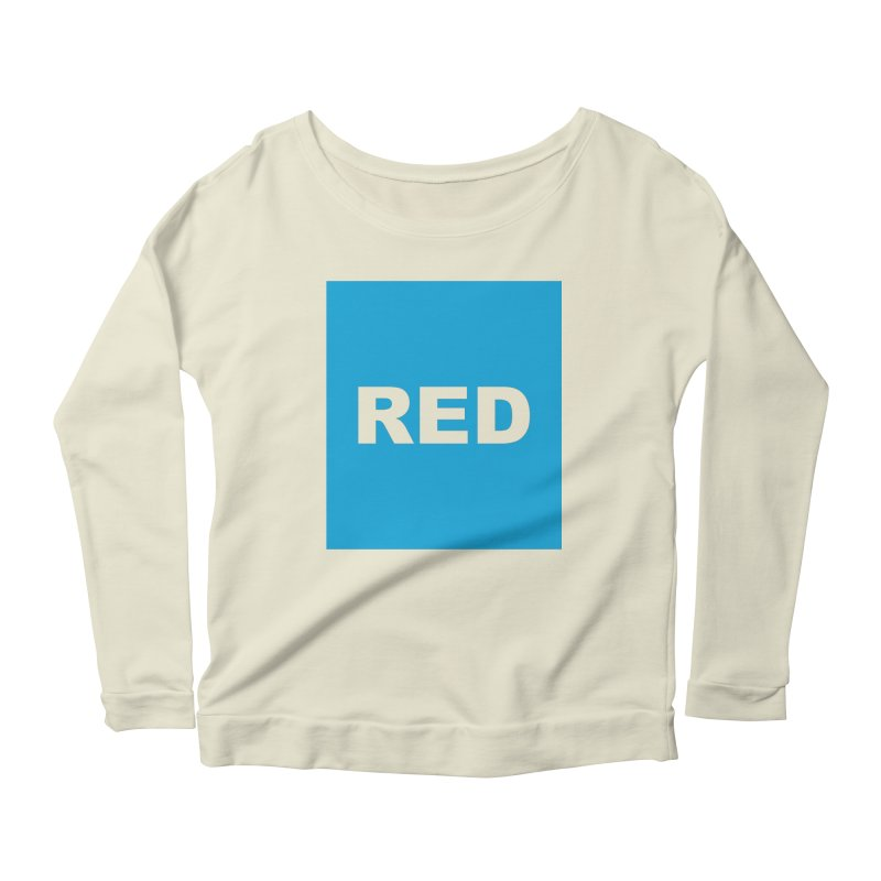 red is blue Women's Scoop Neck Longsleeve T-Shirt by izzyberdan's Artist Shop