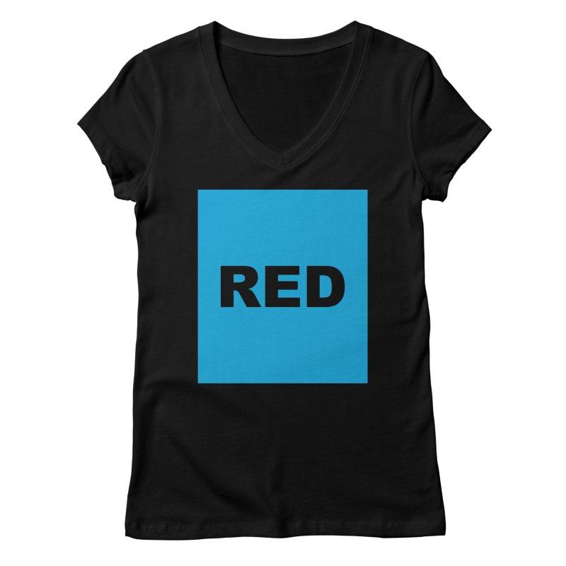 red is blue Women's V-Neck by Izzy Berdan's Artist Shop