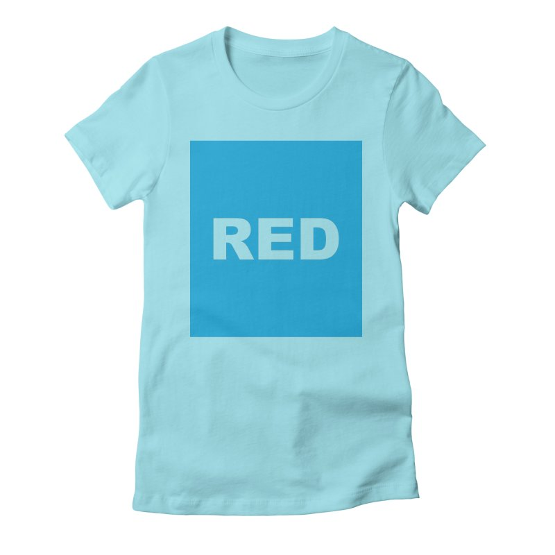 red is blue Women's Fitted T-Shirt by Izzy Berdan's Artist Shop