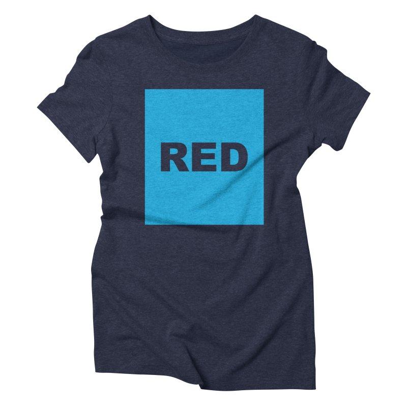 red is blue Women's Triblend T-Shirt by izzyberdan's Artist Shop