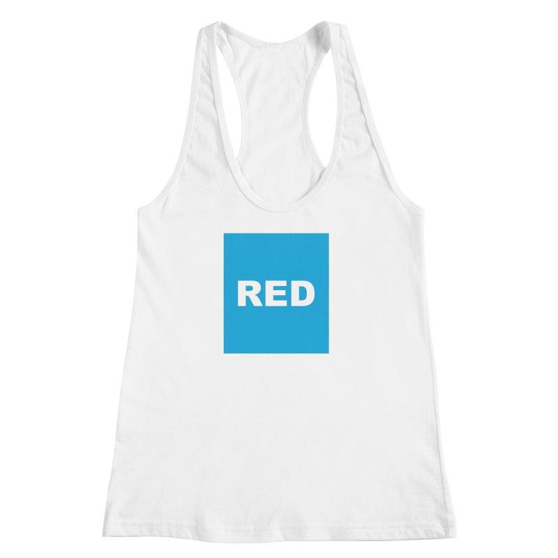 red is blue Women's Racerback Tank by Izzy Berdan's Artist Shop