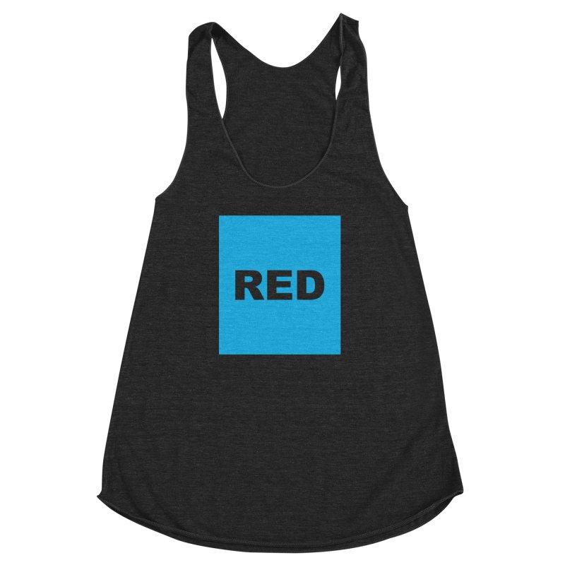 red is blue Women's Racerback Triblend Tank by Izzy Berdan's Artist Shop