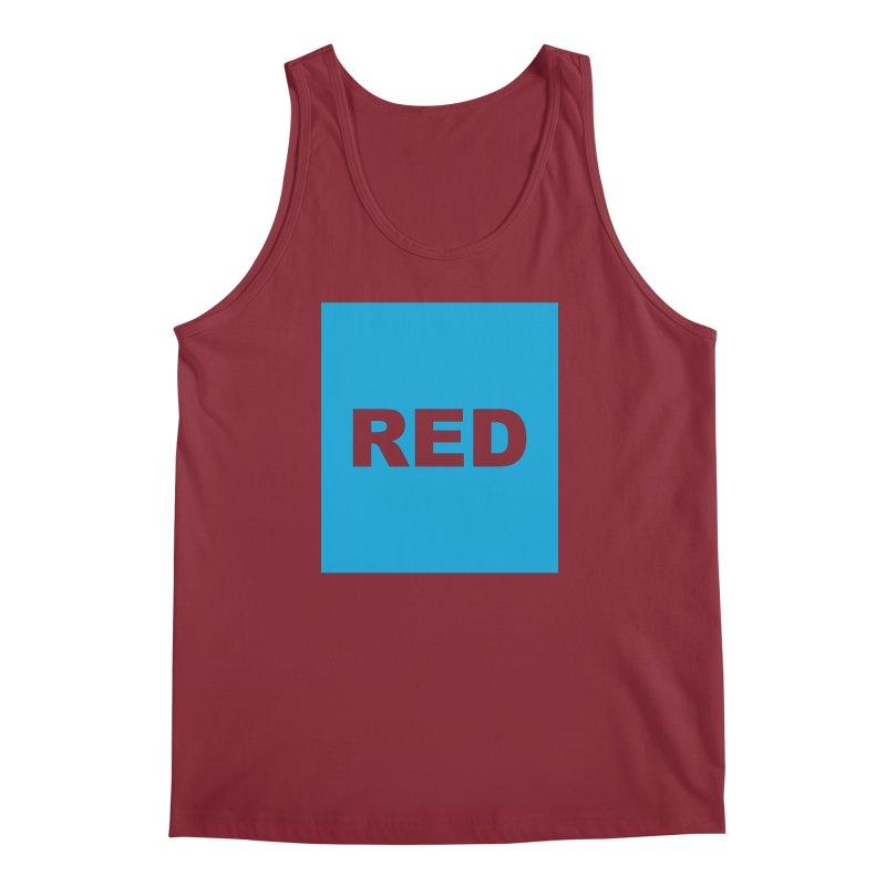 red is blue Men's Regular Tank by Izzy Berdan's Artist Shop