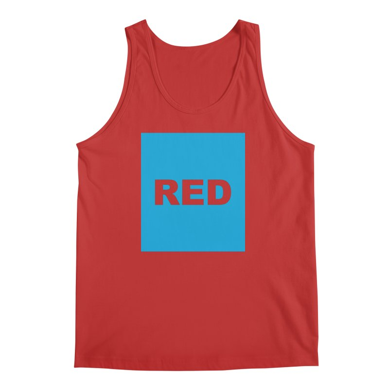 red is blue Men's Regular Tank by Izzy Berdan's Artist Shop