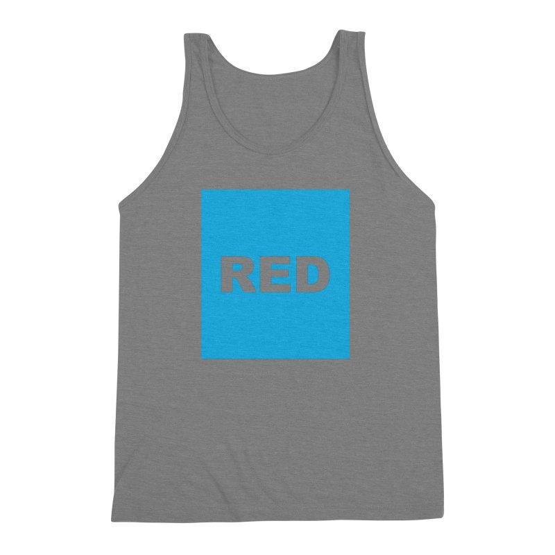red is blue Men's Triblend Tank by Izzy Berdan's Artist Shop