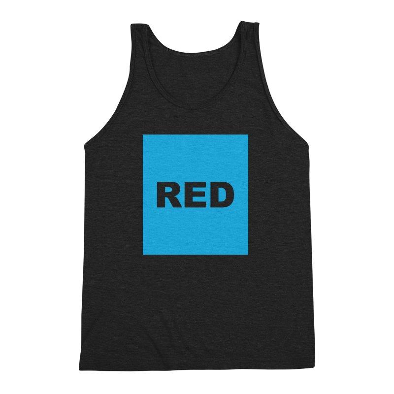 red is blue Men's Triblend Tank by izzyberdan's Artist Shop