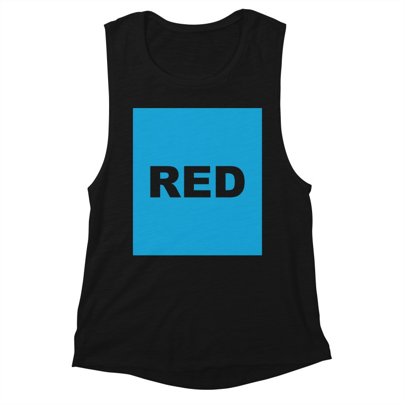 red is blue Women's Muscle Tank by Izzy Berdan's Artist Shop