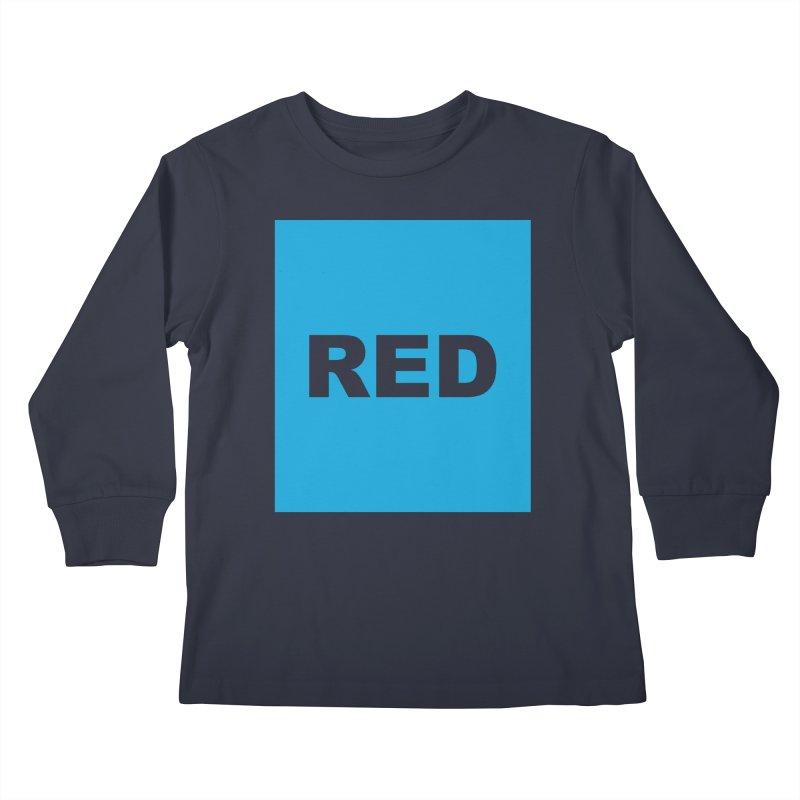 red is blue Kids Longsleeve T-Shirt by Izzy Berdan's Artist Shop