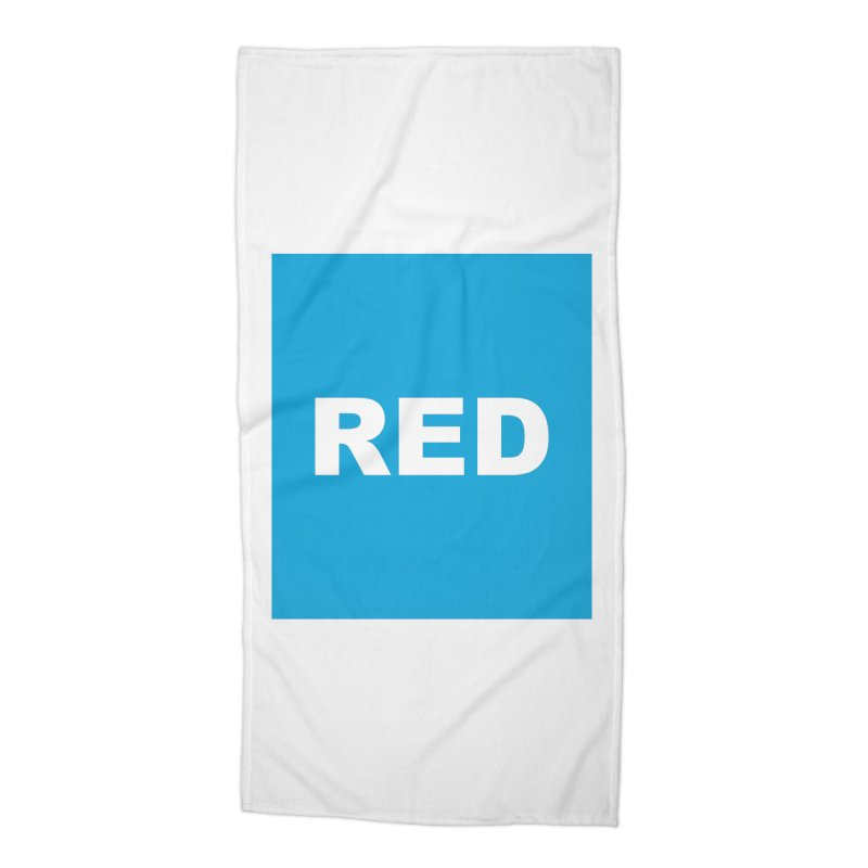 red is blue Accessories Beach Towel by Izzy Berdan's Artist Shop