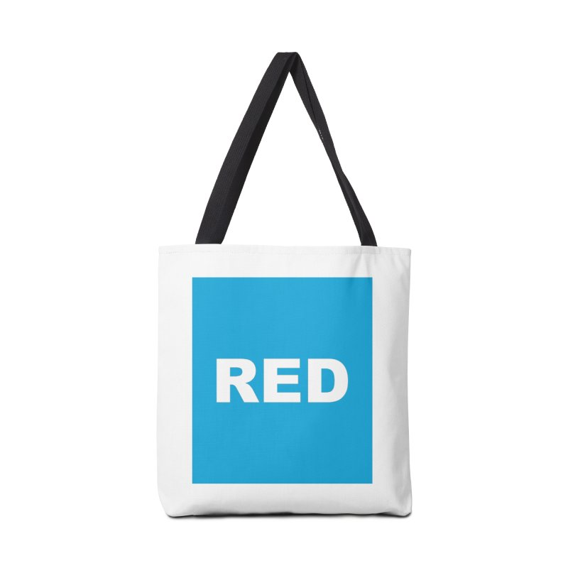 red is blue Accessories Bag by Izzy Berdan's Artist Shop