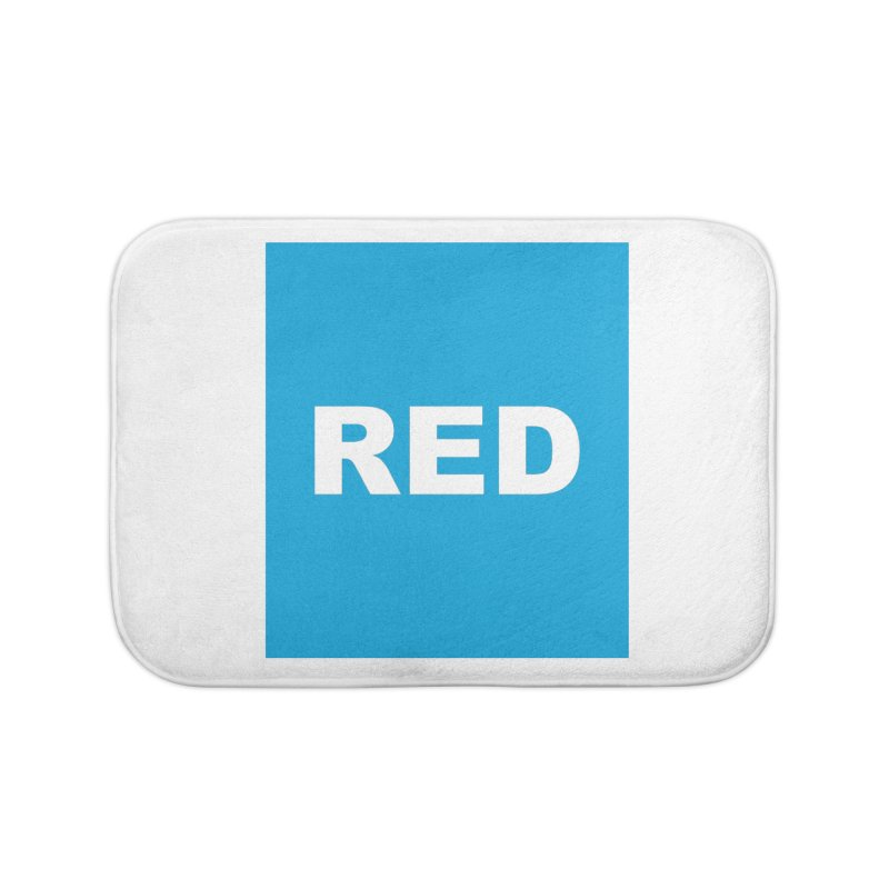 red is blue Home Bath Mat by izzyberdan's Artist Shop